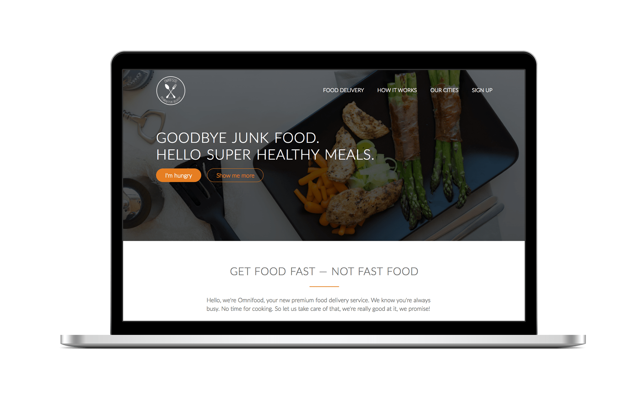 creative donut best web design london Newbury omnifood