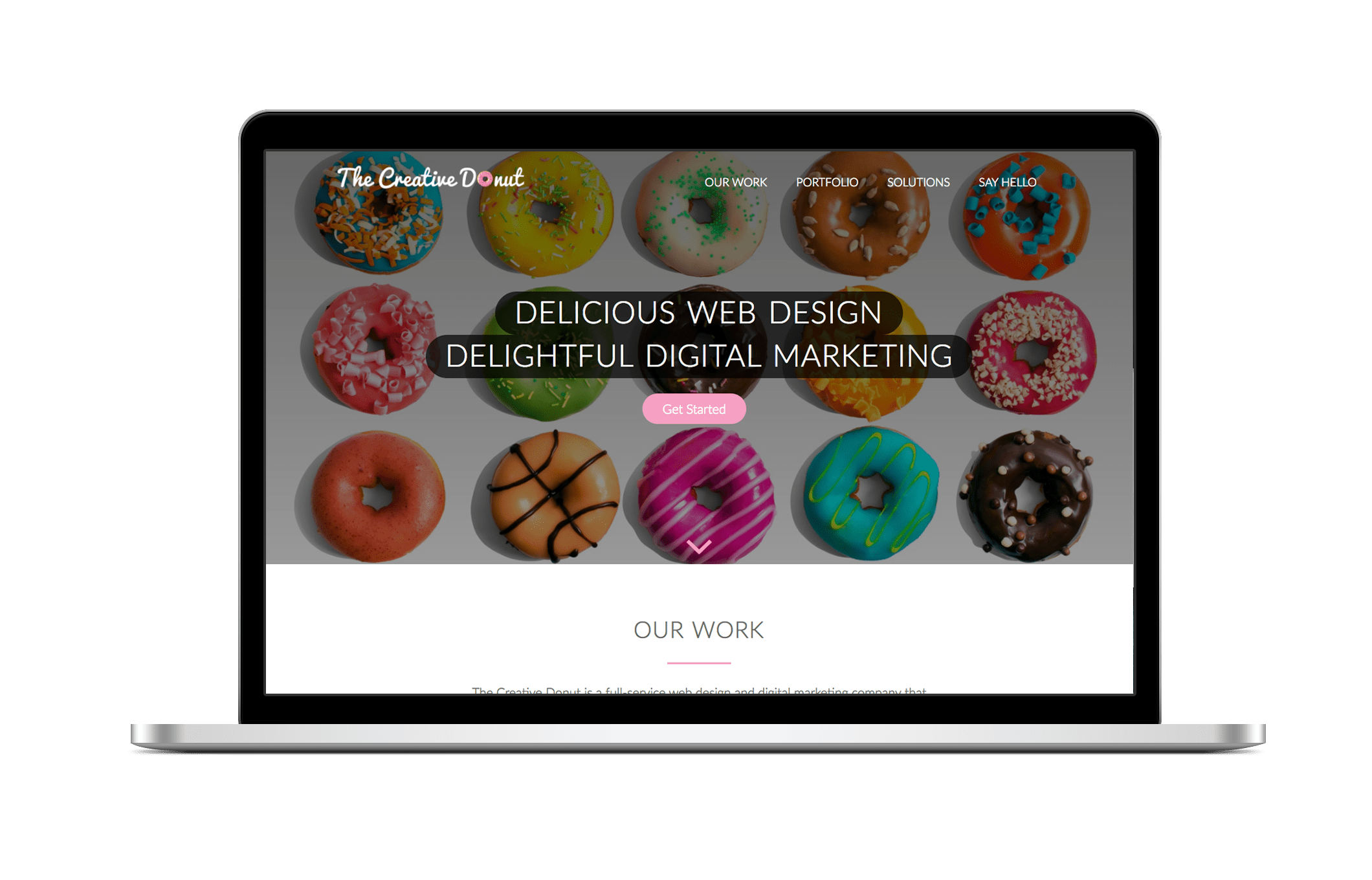 creative donut best web design london Newbury reading maidenhead