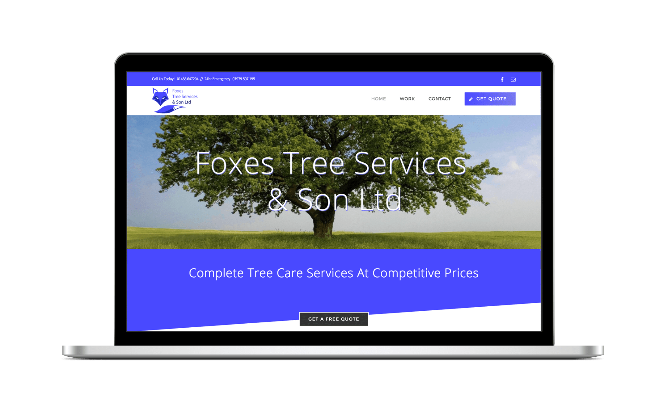 creative donut best web design berkshire newbury foxes tree services surgeons
