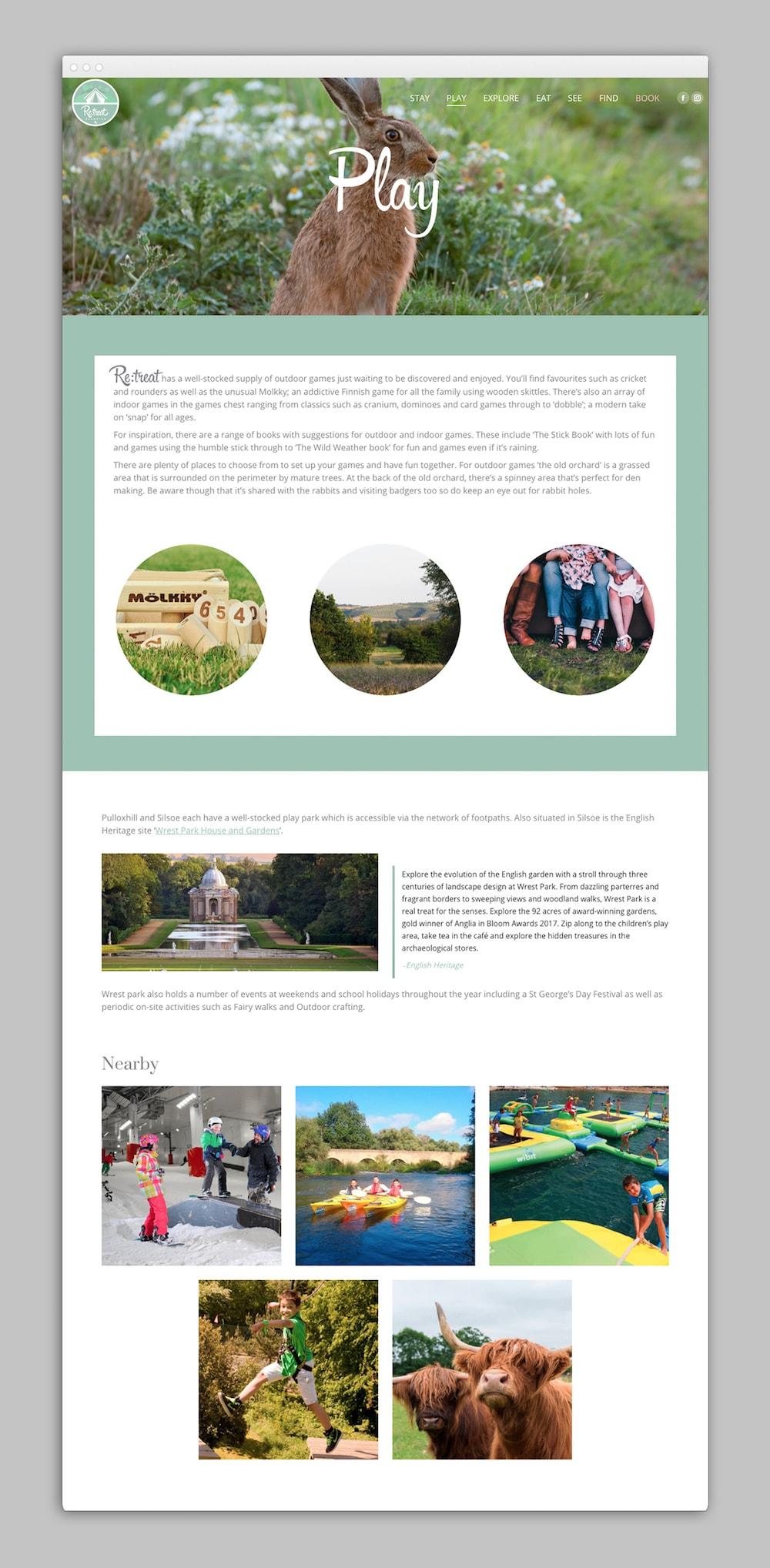 creative donut best web design berkshire newbury retreat glamping